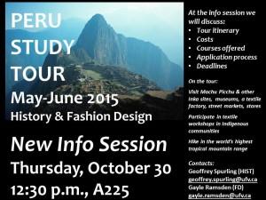 Peru Study Tour