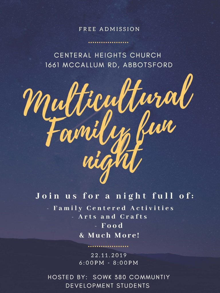 multicultural family fun night